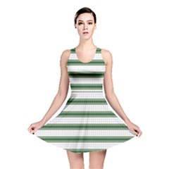 Plaid Line Green Line Horizontal Reversible Skater Dress by Mariart
