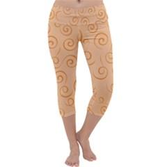 Pattern Capri Yoga Leggings by ValentinaDesign