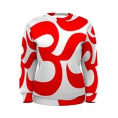 Hindu Om Symbol (red) Women s Sweatshirt by abbeyz71