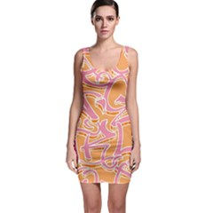 Abc Graffiti Sleeveless Bodycon Dress by Nexatart