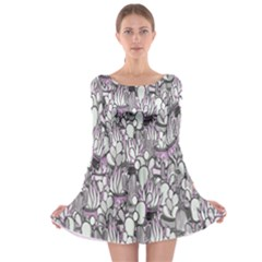 Cactus Long Sleeve Skater Dress