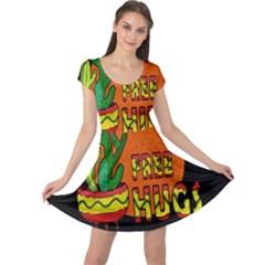 Cactus   Free Hugs Cap Sleeve Dresses by Valentinaart