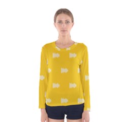 Waveform Disco Wahlin Retina White Yellow Women s Long Sleeve Tee by Mariart