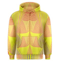 Wave Chevron Plaid Circle Polka Line Light Yellow Red Blue Triangle Men s Zipper Hoodie by Mariart