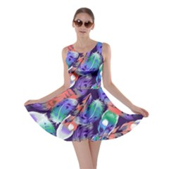Bird Feathers Color Rainbow Animals Fly Skater Dress by Mariart