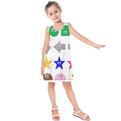 Cute Symbol Kids  Sleeveless Dress by Nexatart