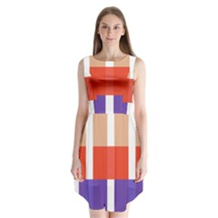 Compound Grid Sleeveless Chiffon Dress   by Nexatart