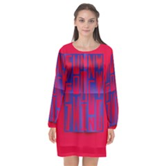 Funny Foggy Thing Long Sleeve Chiffon Shift Dress  by Nexatart