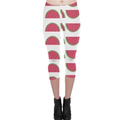 Watermelon Pattern Capri Leggings
