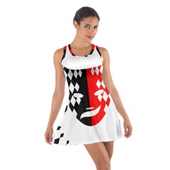 Face Mask Red Black Plaid Triangle Wave Chevron Cotton Racerback Dress