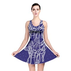 Gemini Zodiac Star Reversible Skater Dress by Mariart