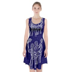 Gemini Zodiac Star Racerback Midi Dress by Mariart