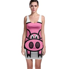 Pork Pig Pink Animals Sleeveless Bodycon Dress by Mariart