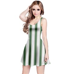 Plaid Line Green Line Vertical Reversible Sleeveless Dress by Mariart