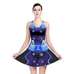 Sign Gemini Zodiac Reversible Skater Dress