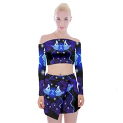Sign Gemini Zodiac Off Shoulder Top With Skirt Set by Mariart