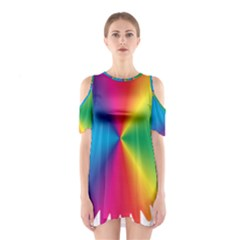 Rainbow Seal Re Imagined Shoulder Cutout One Piece by Nexatart