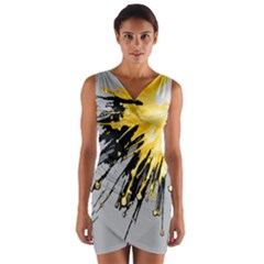 Big Bang Wrap Front Bodycon Dress by ValentinaDesign