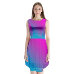 With Wireframe Terrain Modeling Fabric Wave Chevron Waves Pink Blue Sleeveless Chiffon Dress   by Mariart