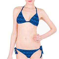 Blue Dragon Snakeskin Skin Snake Wave Chefron Bikini Set