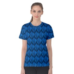 Blue Dragon Snakeskin Skin Snake Wave Chefron Women s Cotton Tee by Mariart