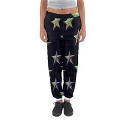 Colorful Gold Star Christmas Women s Jogger Sweatpants by Mariart