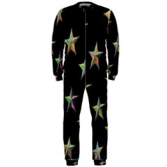 Colorful Gold Star Christmas Onepiece Jumpsuit (men)  by Mariart