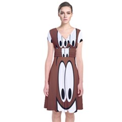 Happy Football Clipart Excellent Illustration Face Short Sleeve Front Wrap Dress