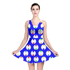 Easter Egg Fabric Circle Blue White Red Yellow Rainbow Reversible Skater Dress