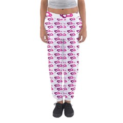 Heart Love Pink Purple Women s Jogger Sweatpants by Mariart