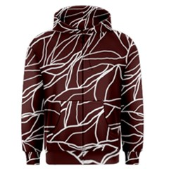 River System Line Brown White Wave Chevron Men s Zipper Hoodie by Mariart