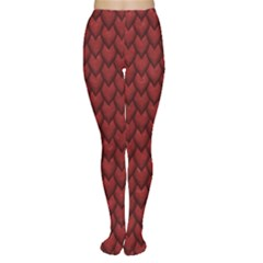 Red Snakeskin Snak Skin Animals Women s Tights by Mariart