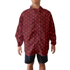 Red Snakeskin Snak Skin Animals Wind Breaker (kids) by Mariart