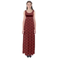 Red Snakeskin Snak Skin Animals Empire Waist Maxi Dress by Mariart