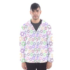 Star Space Color Rainbow Pink Purple Green Yellow Light Neons Hooded Wind Breaker (men) by Mariart
