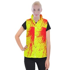 Big Bang Women s Button Up Puffer Vest by ValentinaDesign