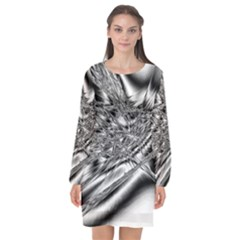 Big Bang Long Sleeve Chiffon Shift Dress  by ValentinaDesign
