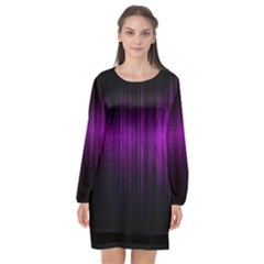 Light Long Sleeve Chiffon Shift Dress  by ValentinaDesign