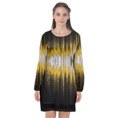 Light Long Sleeve Chiffon Shift Dress  by ValentinaDesign