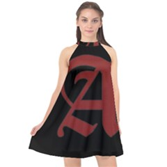 The Scarlet Letter Halter Neckline Chiffon Dress  by Valentinaart