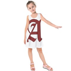 The Scarlet Letter Kids  Sleeveless Dress by Valentinaart