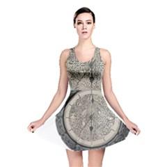 Clock Celtic Knot Time Celtic Knot Reversible Skater Dress
