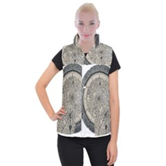 Clock Celtic Knot Time Celtic Knot Women s Button Up Puffer Vest