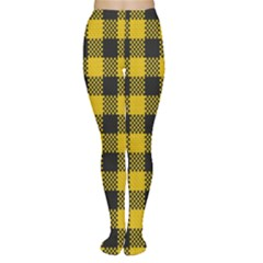 Plaid Pattern Women s Tights by ValentinaDesign