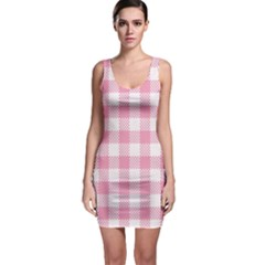 Plaid Pattern Sleeveless Bodycon Dress by ValentinaDesign