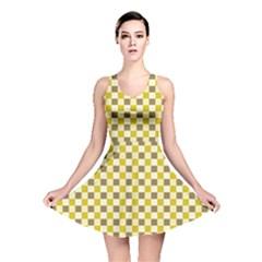 Plaid Pattern Reversible Skater Dress by ValentinaDesign