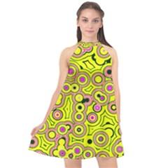 Bubble Fun 17d Halter Neckline Chiffon Dress  by MoreColorsinLife