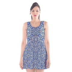 Geometric Luxury Ornate Scoop Neck Skater Dress by dflcprintsclothing