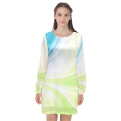 Colors Long Sleeve Chiffon Shift Dress  by ValentinaDesign