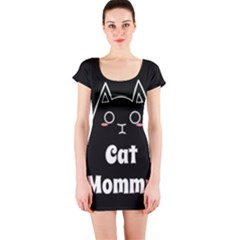 Love My Cat Mommy Short Sleeve Bodycon Dress by Catifornia